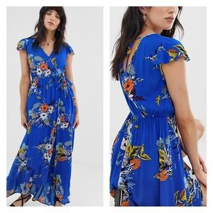 Band of Gypsies | Floral Wrap Front Maxi Dress M